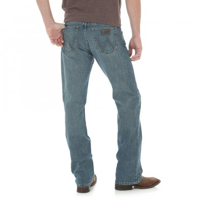 Картинка джинсов Wrangler 20X Advanced Comfort 02 Competition Slim Fit Jeans - Barrel, вид сзади