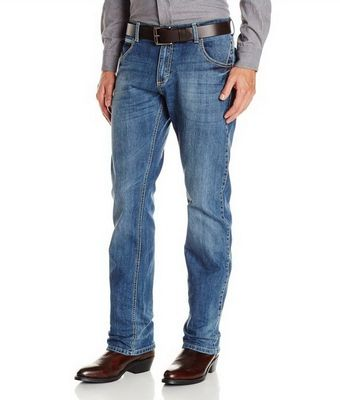 Картинка джинсов Wrangler WLT88CN Men's Retro Slim Fit Straight Leg Jeans - Chandler