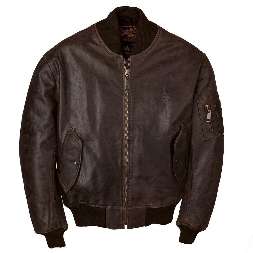 521ba1ad2bb4 Летная кожаная куртка Alpha Industries Leather MA-1 Flight Jacket ...