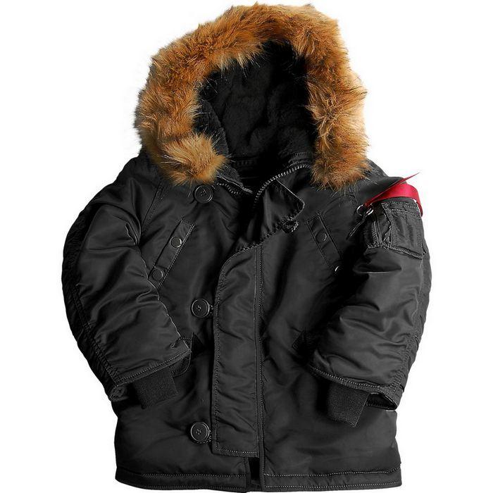 27654a7b124 Детская куртка Аляска Alpha Industries Boys N - 3B Snorkel Jacket ...