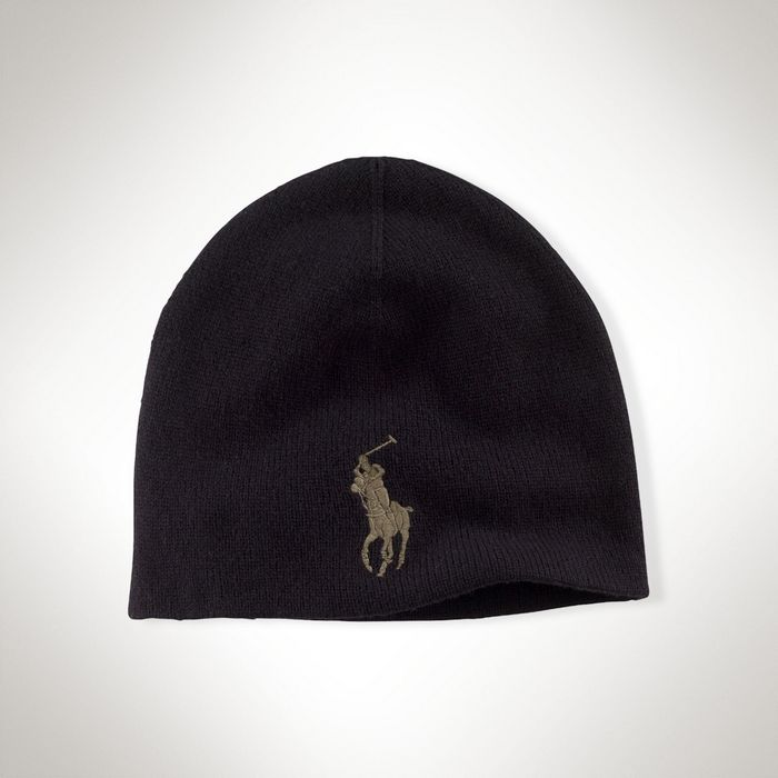 f1655e99bb0a Шапка Polo Ralph Lauren Big Pony Wool Watch Cap - Black