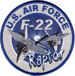Нашивка U.S. AIR FORCE F-22 RAPTOR