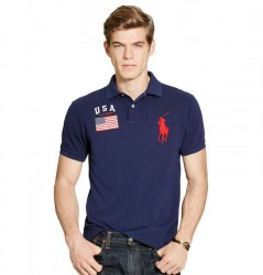 Поло Ralph Lauren Custom-Fit USA Mesh Polo
