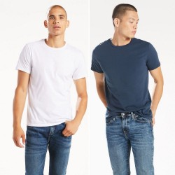 Комплект футболок Levis Slim Fit Crewneck Tees (2-Pack) - Navy and White