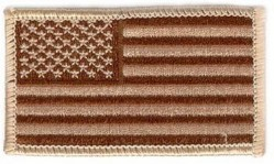 НАШИВКА AMERICAN FLAG PATCH (CAMO) 1 3/4 x 3""
