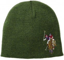 Зимняя шапка U.S. Polo Assn. Solid Beanie Cap - Forest Green