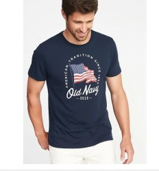 Футболка Old Navy 2018 Flag Graphic Tee - Ink Blue