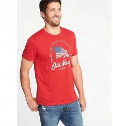 Футболка Old Navy 2018 Flag Graphic Robbie Red Tee