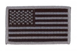 Нашивка American Flag - Black-Grey