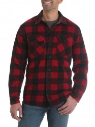 Флисовая рубашка Wrangler Fleece Red Buffalo Plaid