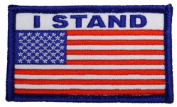 Нашивка Eagle Crest American Flag with I Stand