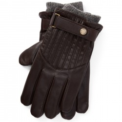 Кожаные перчатки Polo Ralph Lauren Quilted Racing Brown Gloves