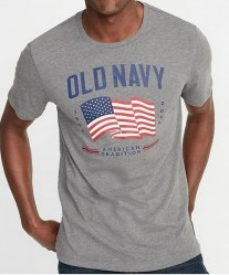 Футболка Old Navy 2019 Flag Gray Tee