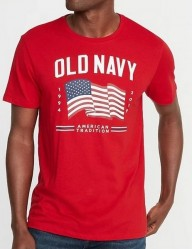 Футболка Old Navy 2019 Flag Red Tee