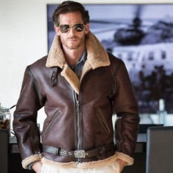 Бомбер Cockpit USA RAF Fighter Weight Sheepskin Bomber Jacket