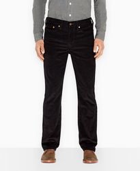 Джинсы вельветовые Levis 514 Corduroy Straight Fit Jeans - Black