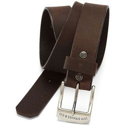 Ремень кожаный Levis Leather Bridle Belt - Brown