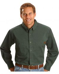 Рубашка Wrangler Riggs Workwear Twill Work Shirt - Forest Green