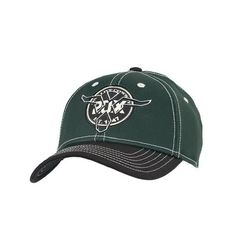 Бейсболка Wrangler 20X Green & Black with Skull Circle Logo Flex Fit Cap
