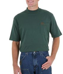 Футболка Wrangler RIGGS Workwear Short Sleeve Pocket Forest Green T-Shirt